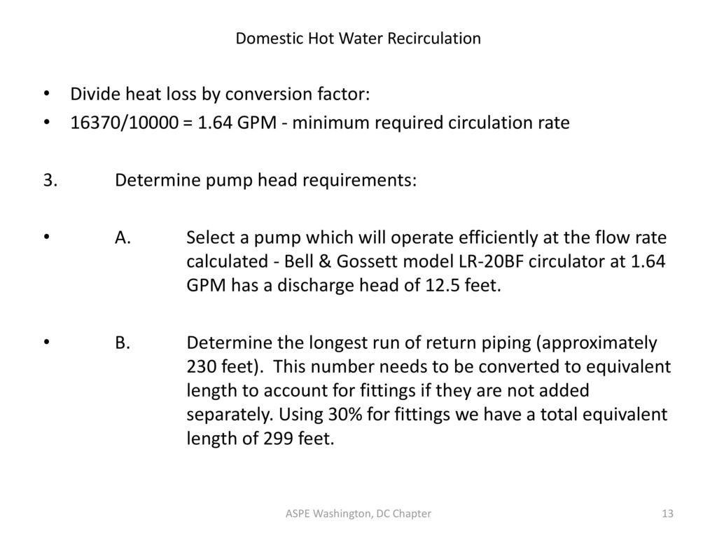 domestic hot water recirculation design ppt video online download rh slideplayer com