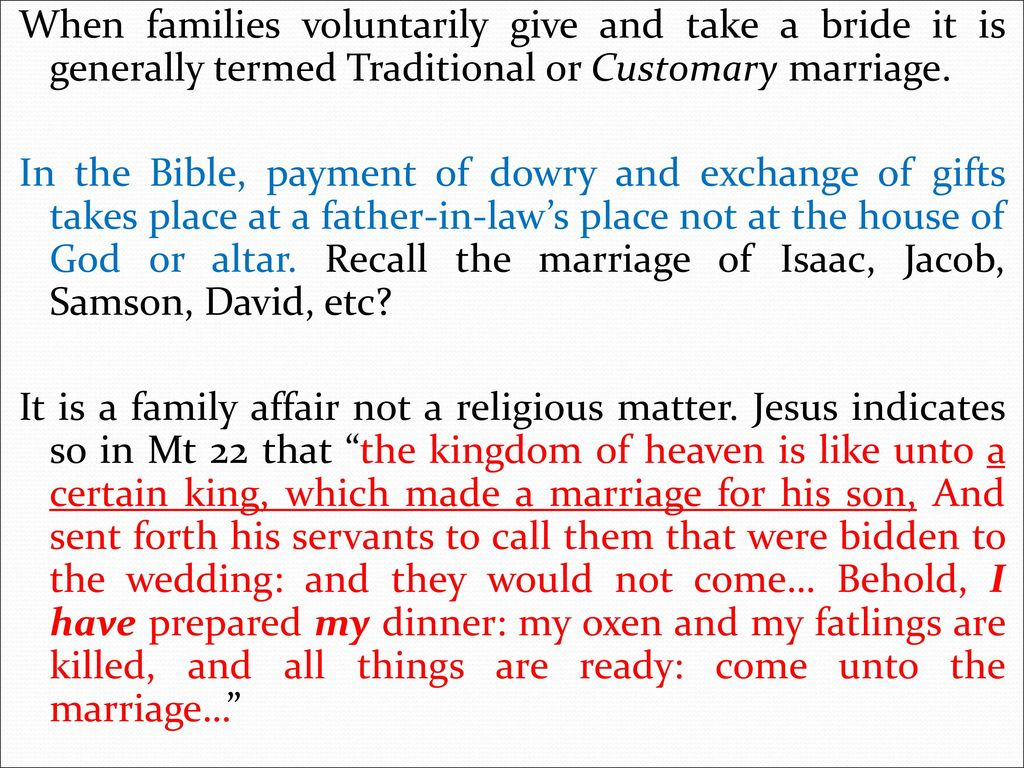 dowry payment in the bible
