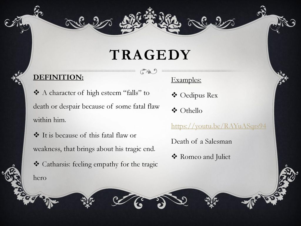 tragedy definition and examples