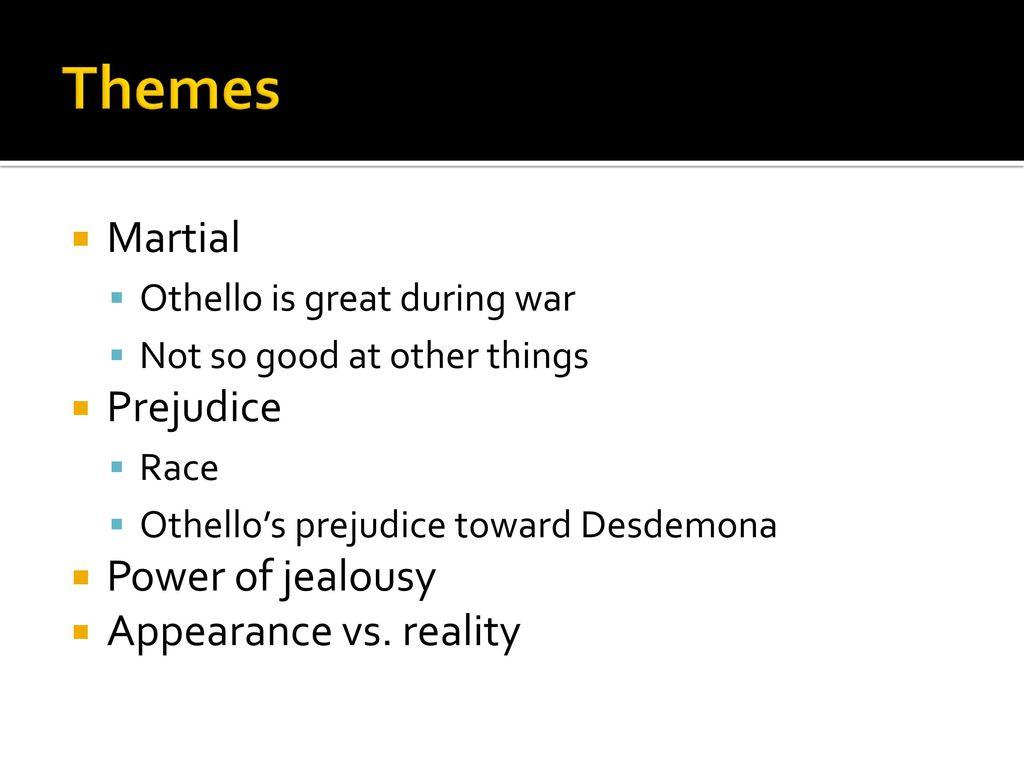 othello themes appearance vs reality