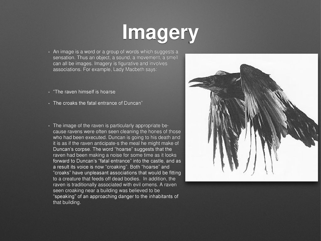 examples of imagery in the raven