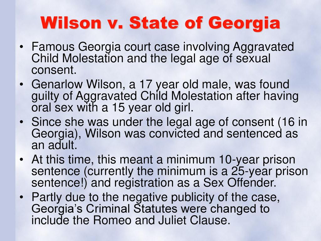 legal age of consent in georgia