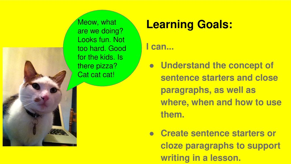 Sentence starters and cloze paragraphs - ppt download