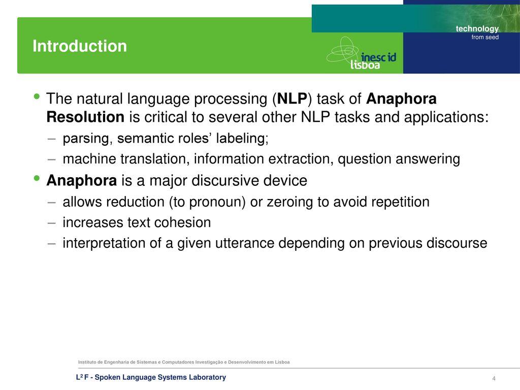 Interpreting anaphors in natural language texts
