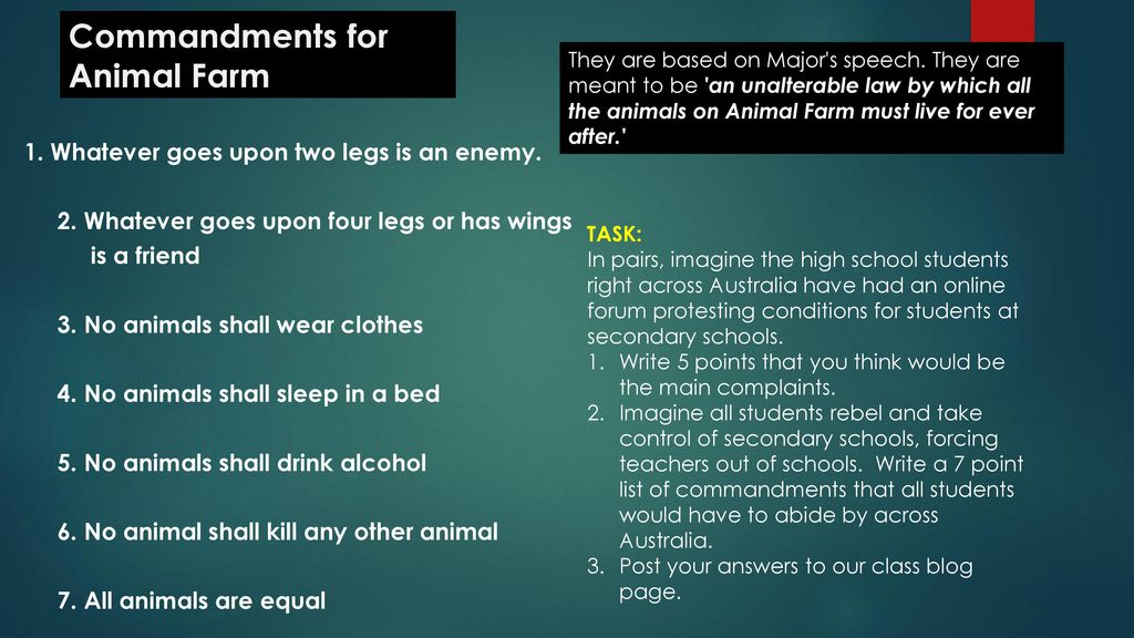 animal farm ten commandments