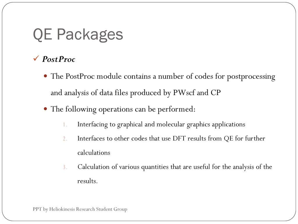 Introduction to Quantum Espresso - ppt download