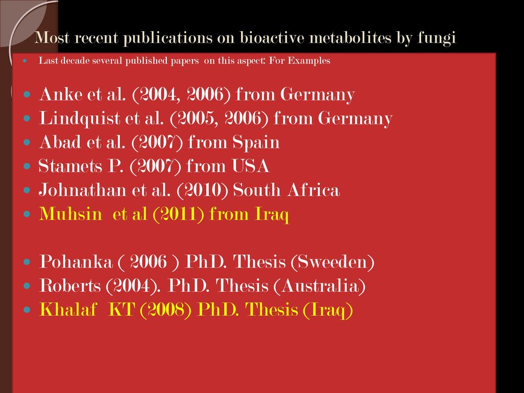 Fungal Secondary Metabolites - ppt video online download