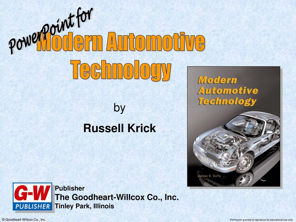 Modern Automotive Technology Powerpoint For By Russell Krick Ppt Volvo Pv444 Wiring Diagram Vintage Car Electrical
