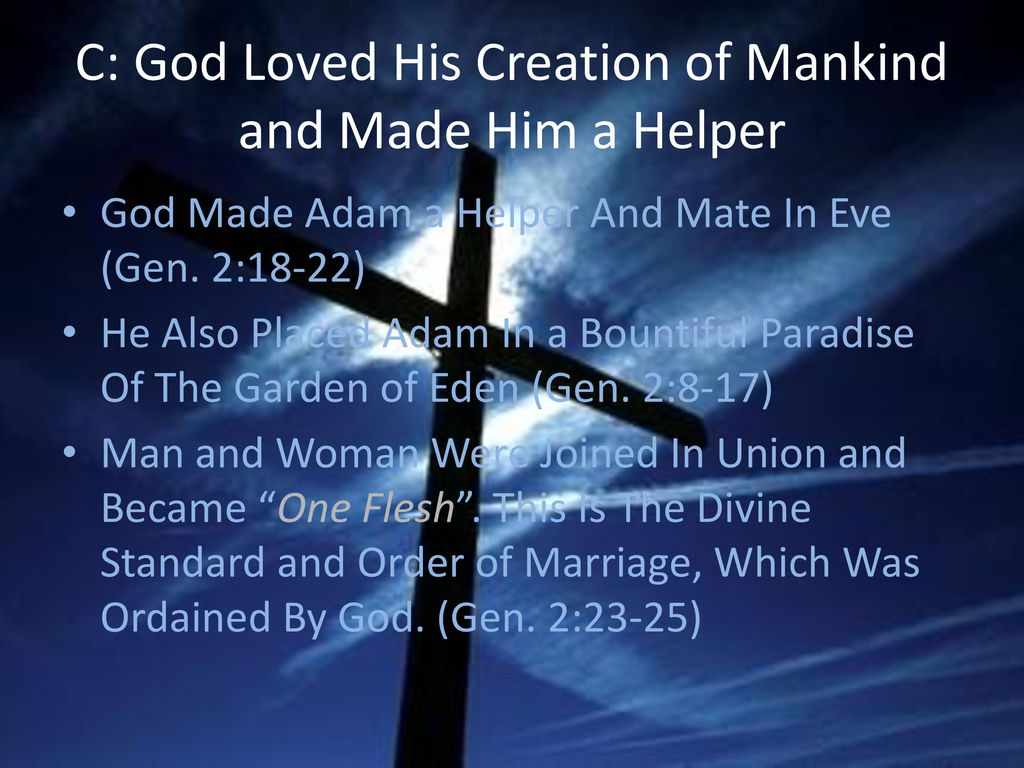 God: The Creator and Redeemer - ppt download