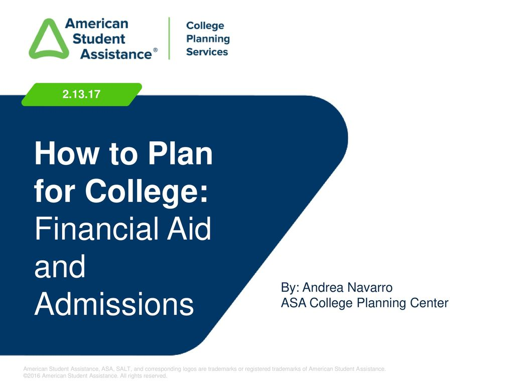 How To Plan For College Financial Aid And Admissions