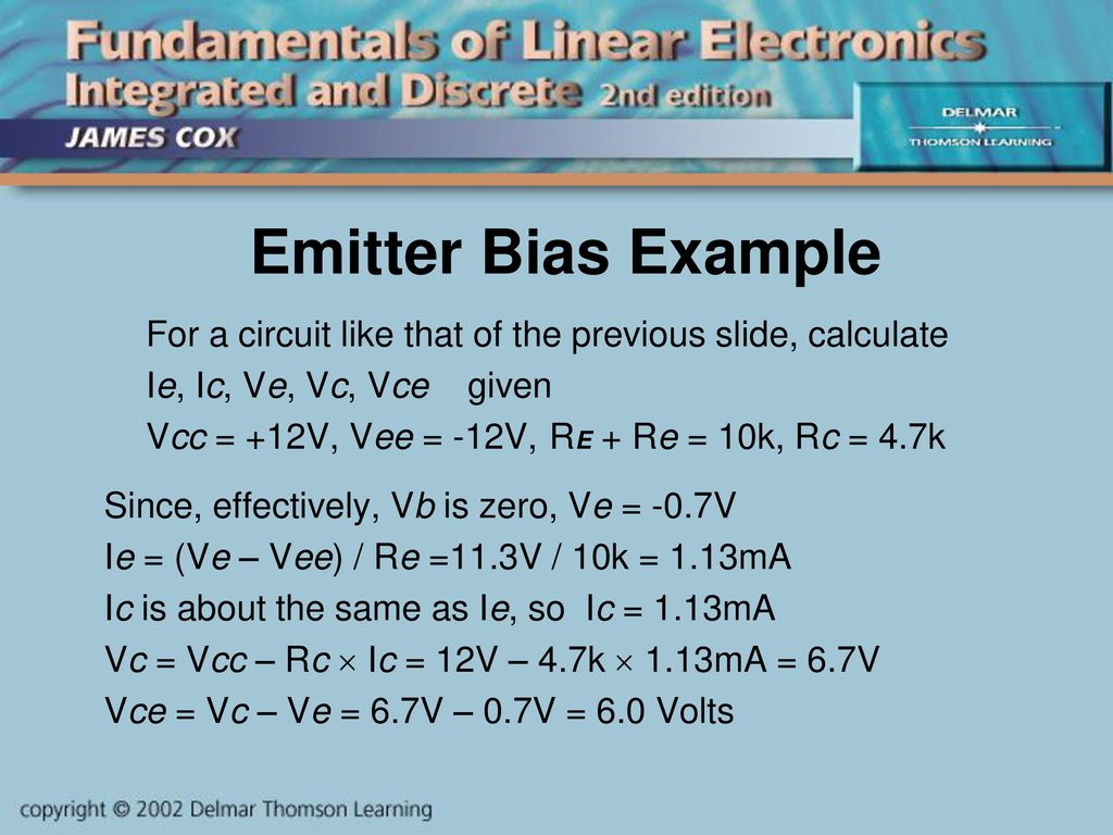 Introduction To Diodes Ppt Download Topic Transistor Controlling 12v Read 373 Times Previous Emitter Bias Example For A Circuit Like That Of The Slide Calculate Ie