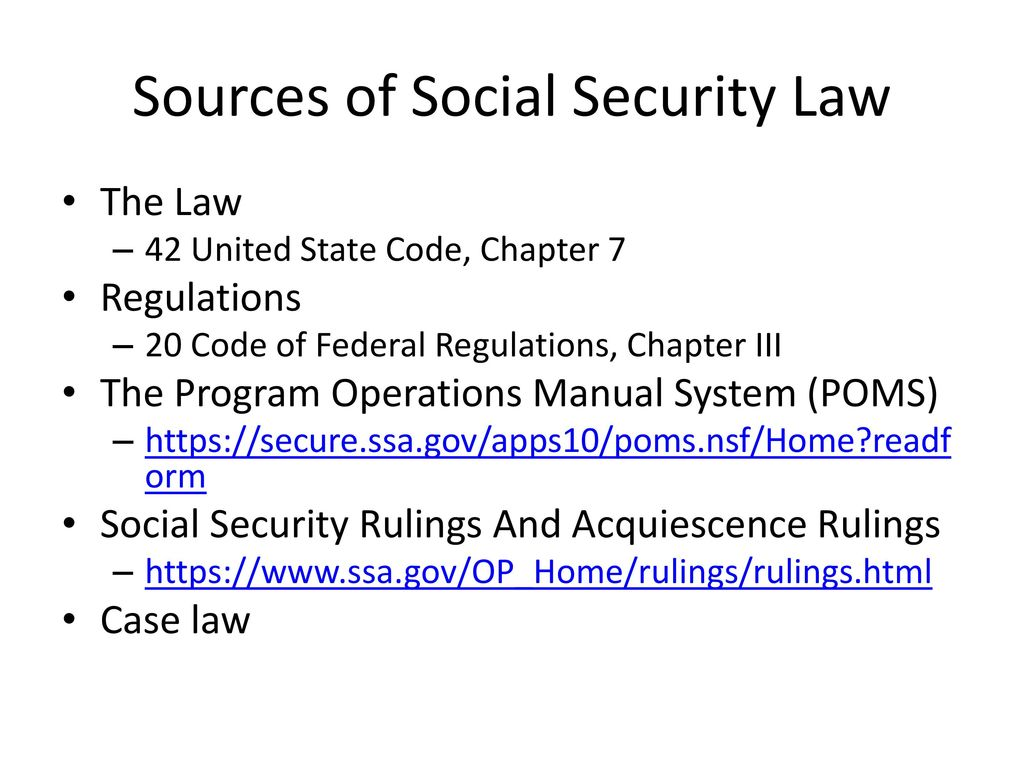 social security disability income and supplemental security income rh slideplayer com social security administration's program operations manual system (poms) social security program operations manual system (poms)