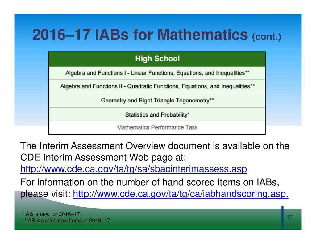 Smarter Balanced Digital Library and Interim Assessment