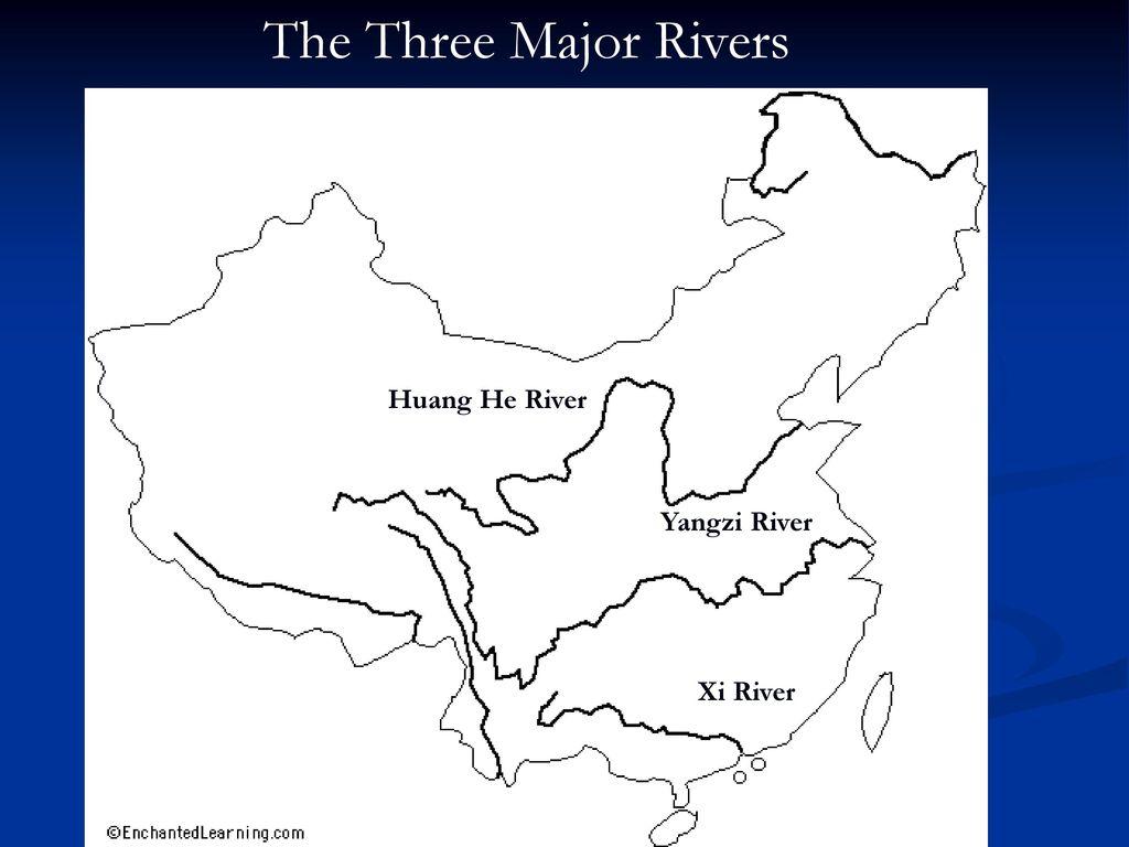 Xi River China Map.Unit 3 China Geography And Ancient China Ppt Download