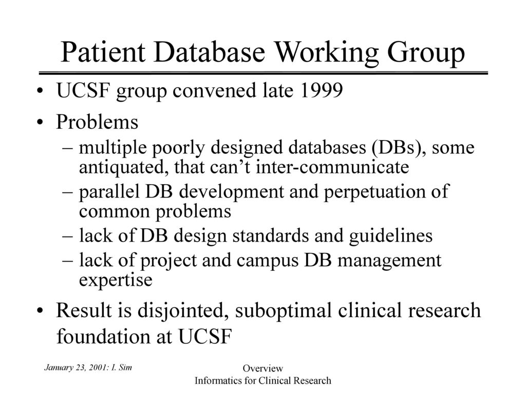 Informatics for Clinical Research - ppt download