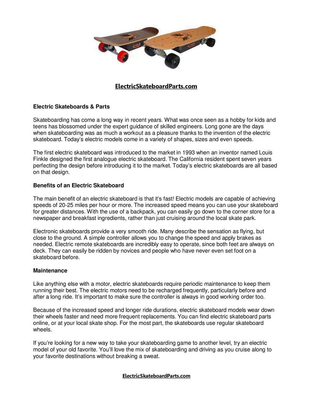 ElectricSkateboardParts com Electric Skateboards & Parts