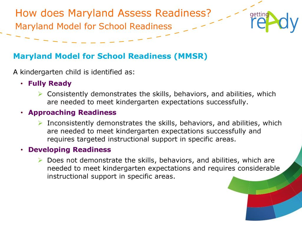 How does Maryland Assess Readiness Maryland Model for School Readiness