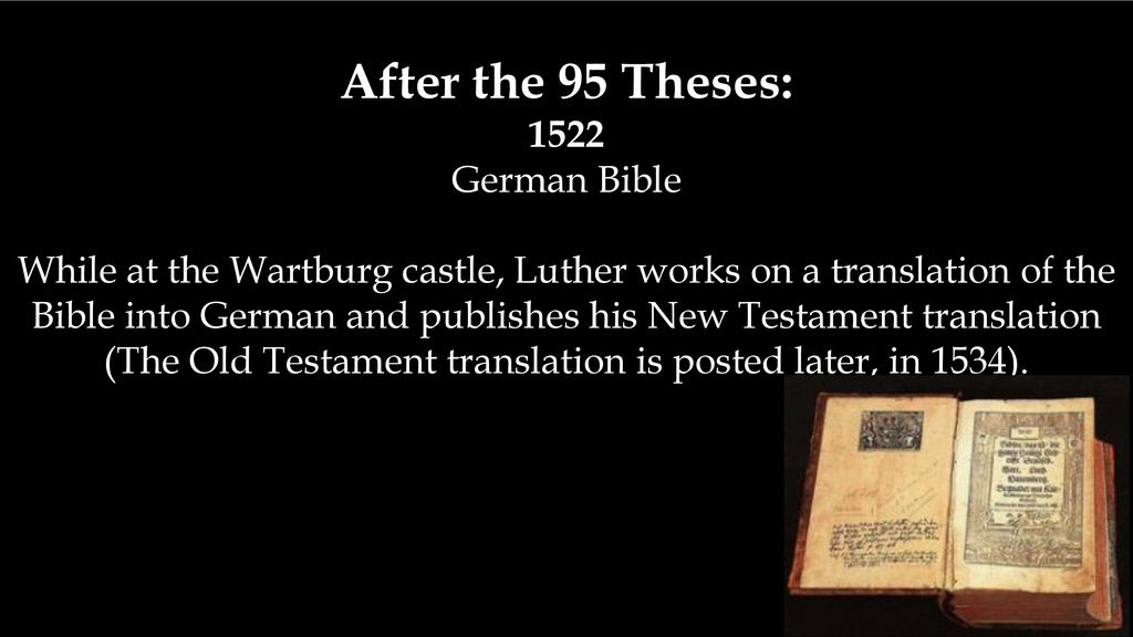 After The 95 Theses 1522 German Bible