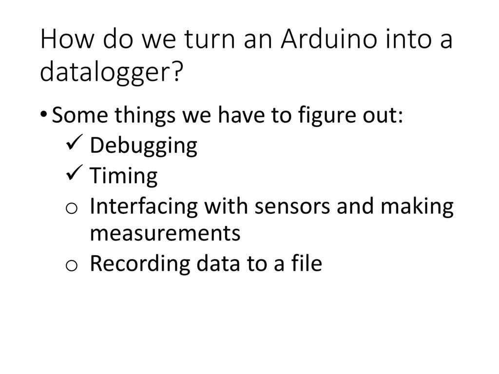 Lecture 7 Datalogger Programming Using Arduino – Part 2 - ppt video