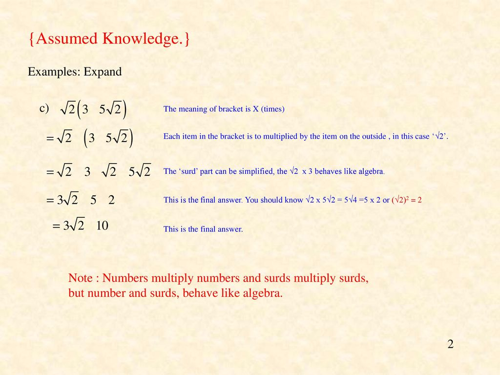Binomial Expansion And Surds Part 1 Ppt Download