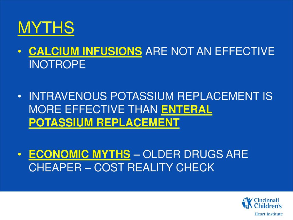 CICU Pharmacotherapy Myth-Busters - ppt download
