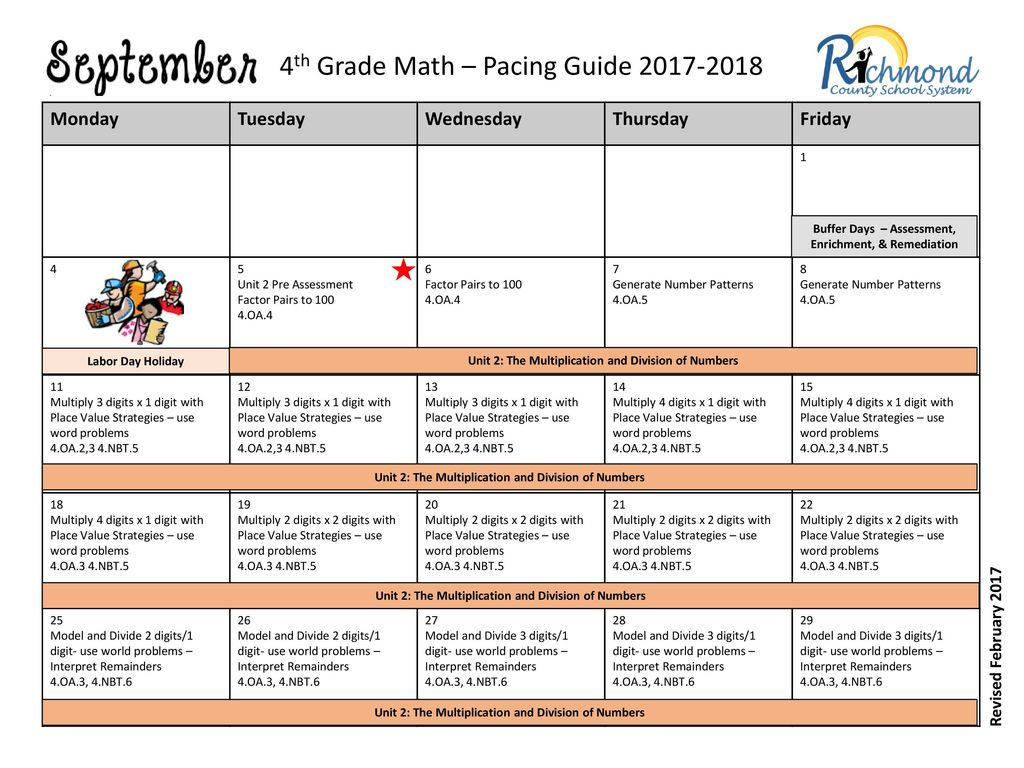 4th Grade Math – Pacing Guide - ppt download