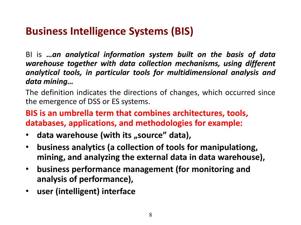 business intelligence systems - ppt download