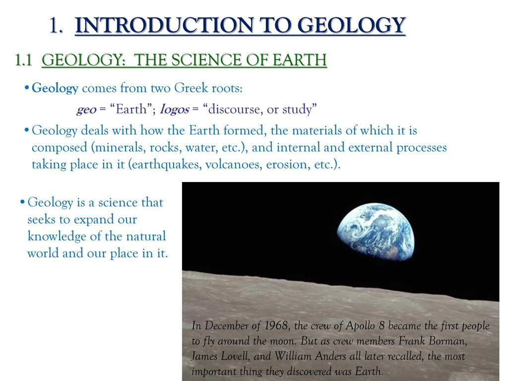 why is it important to study geology