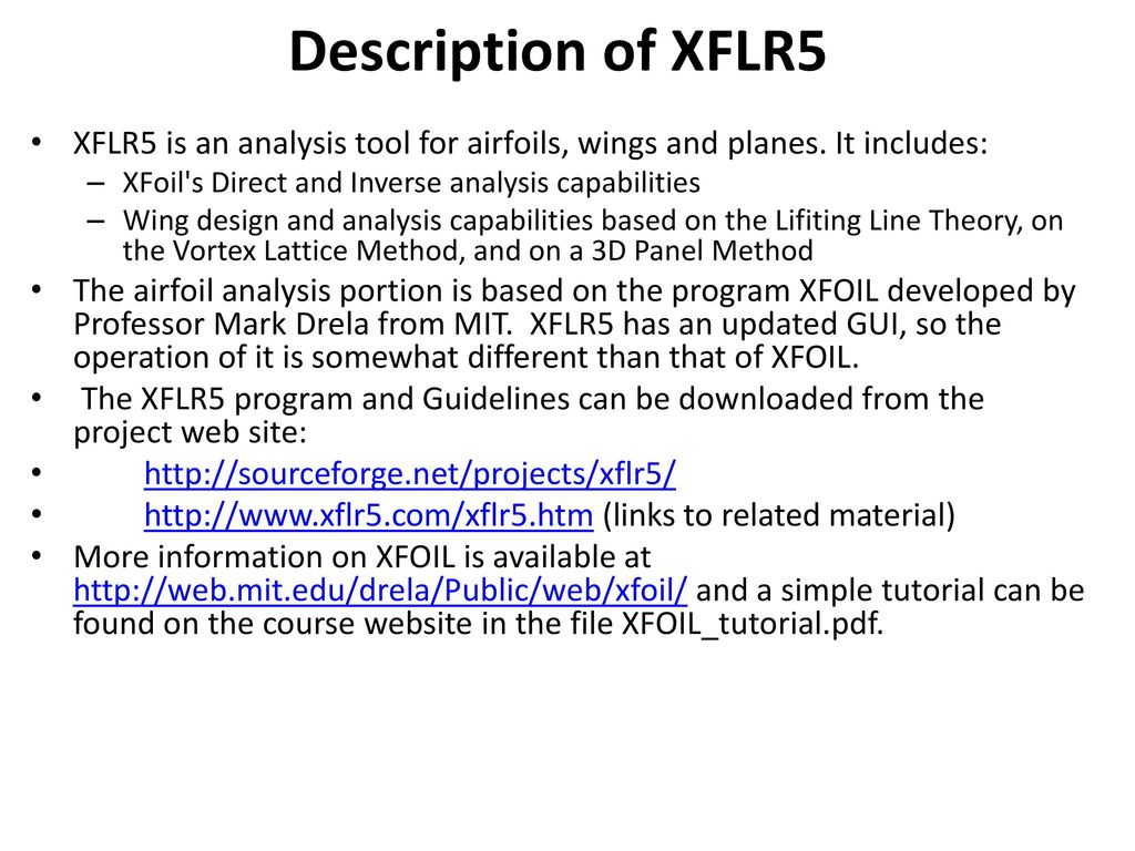 XFLR5 Airfoil, Wing and Plane Analysis - ppt video online download