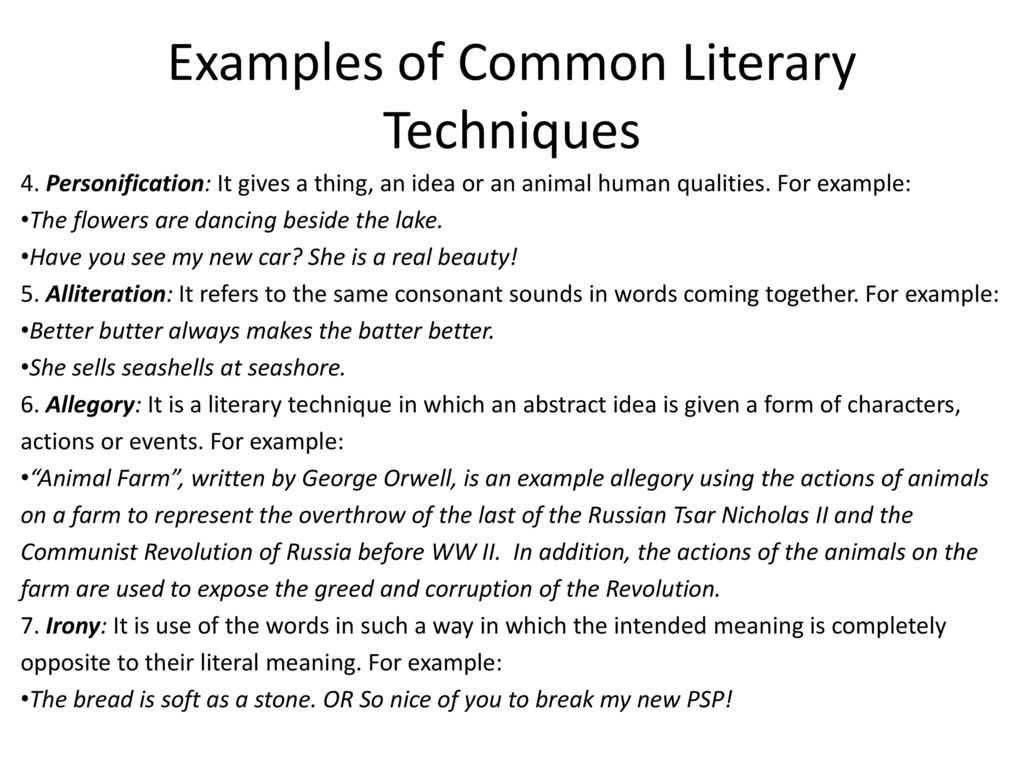Literary Devices Vs Literary Techniques Ppt Download