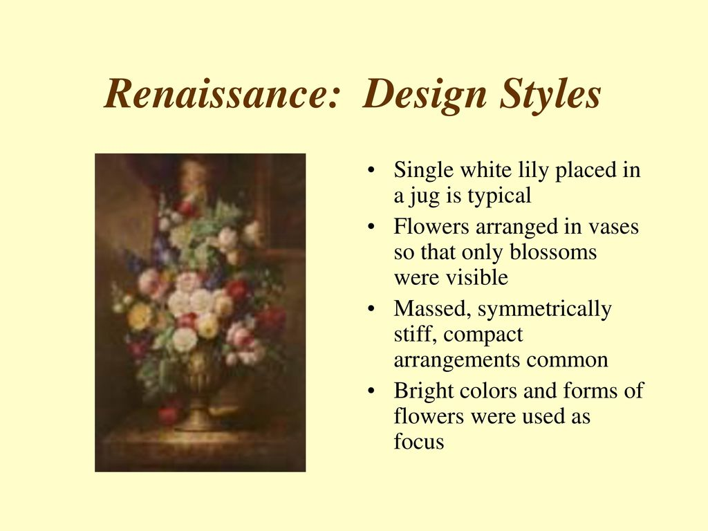 History of floral design ppt download 28 renaissance design styles izmirmasajfo