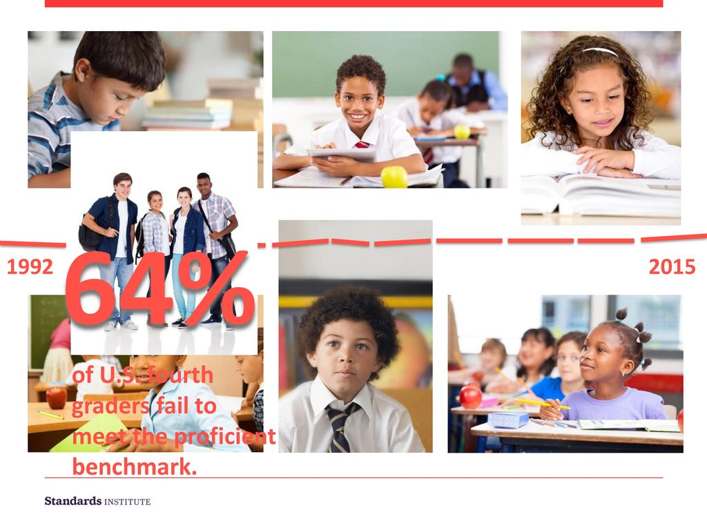 64% of U.S. fourth graders fail to meet the proficient benchmark. 1992