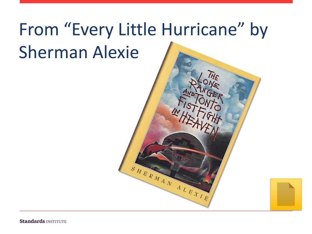 From Every Little Hurricane by Sherman Alexie