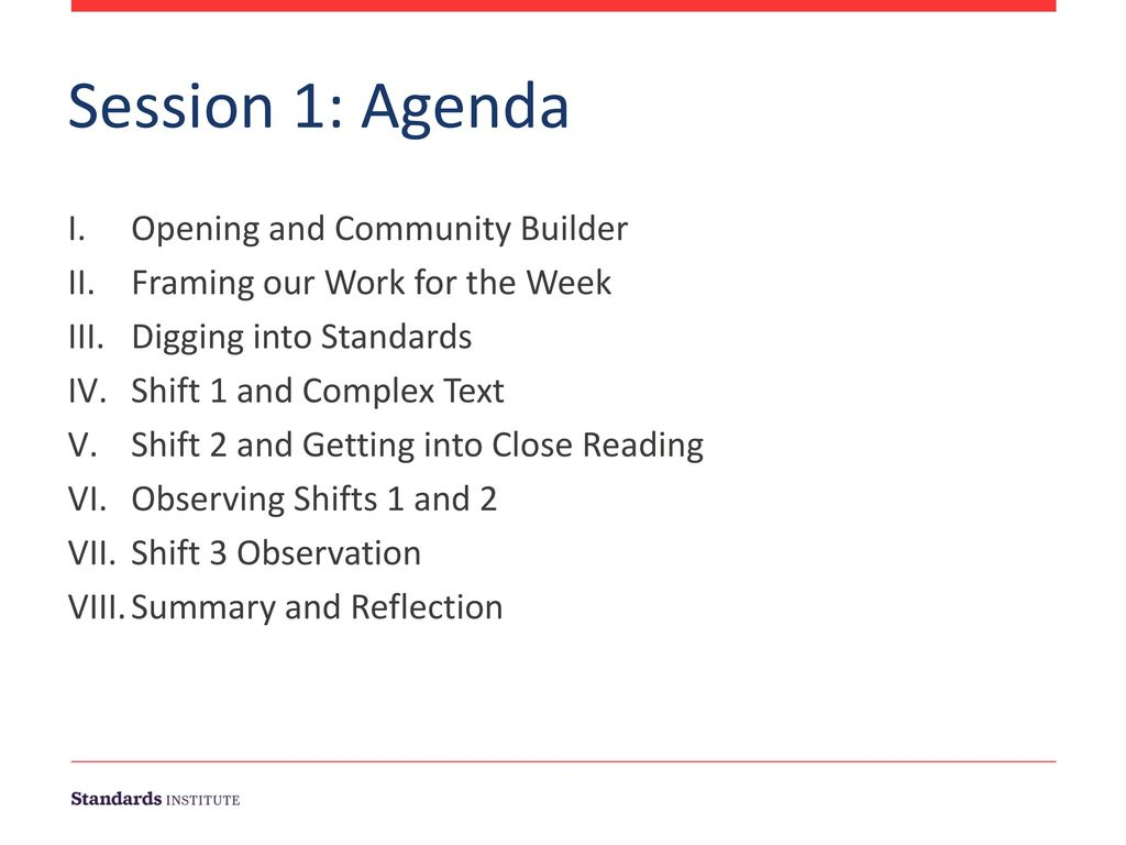 Session 1: Agenda Opening and Community Builder