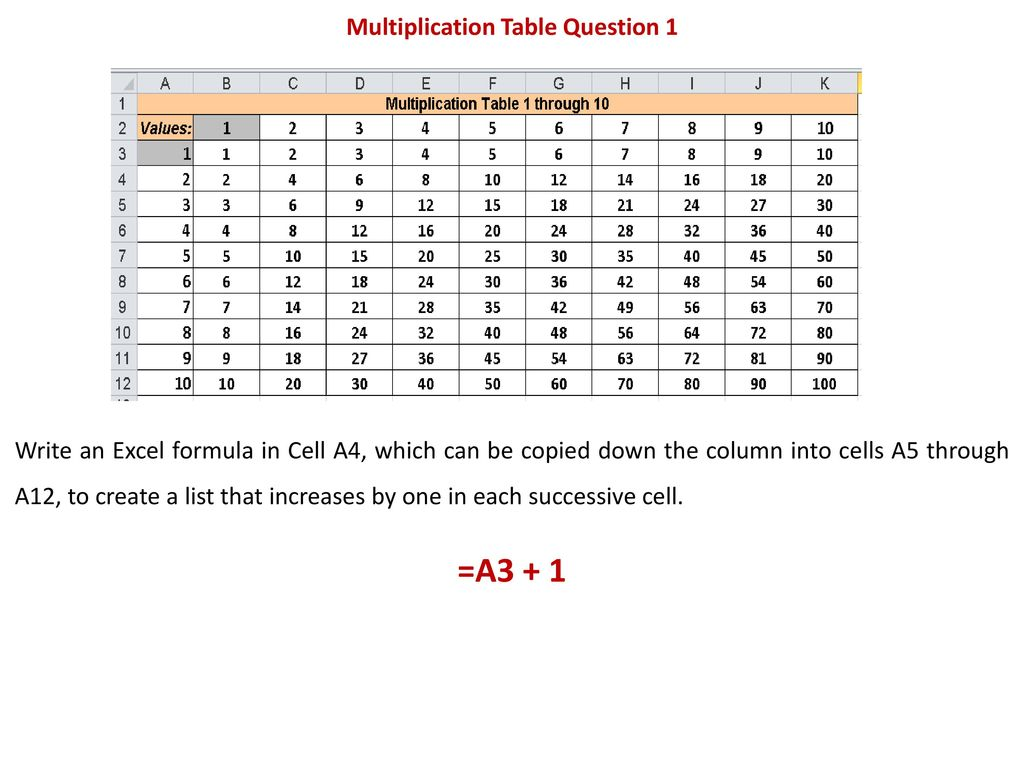 Question 1 Write An Excel Formula In Cell F6 Which Can Be Copied