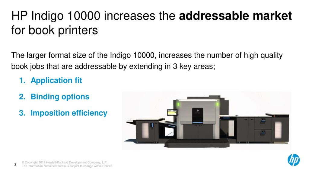 HP Indigo for Publishing: - ppt download