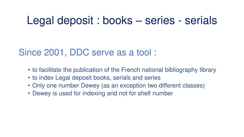 Use of DDC at the BnF, display of authority Data - ppt download