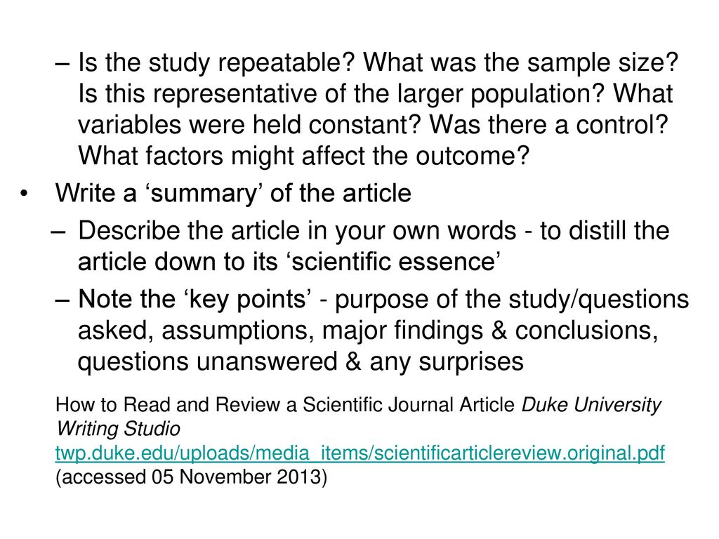 How to Read a Scientific Paper - ppt download