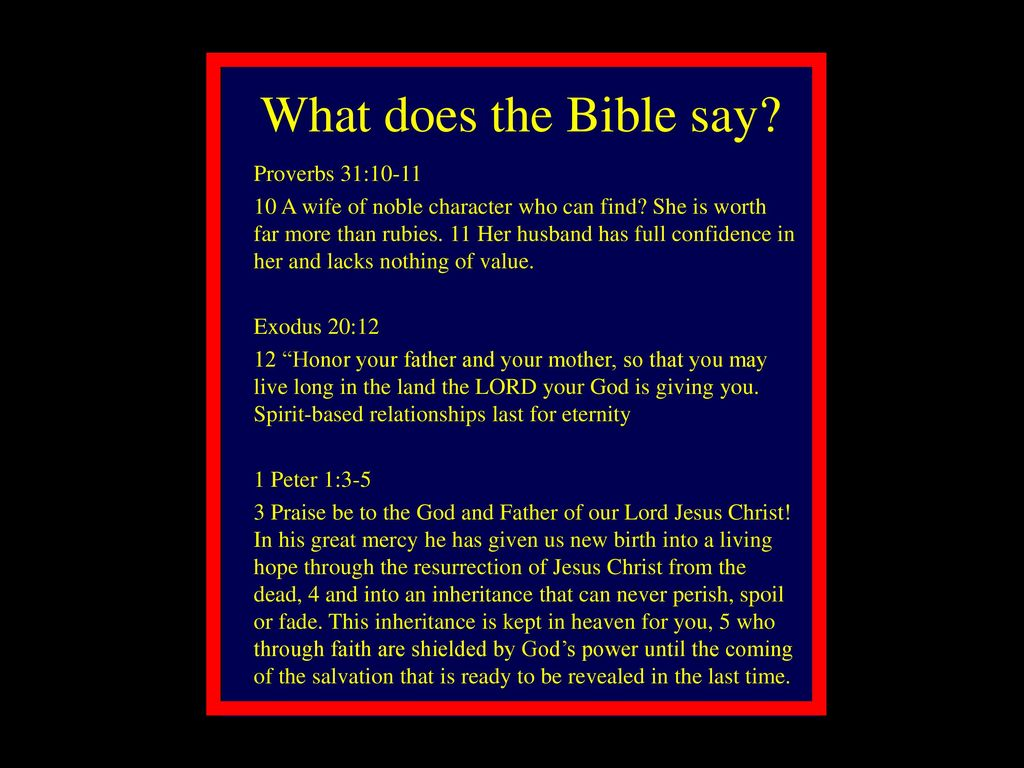 what does the bible say about relationships