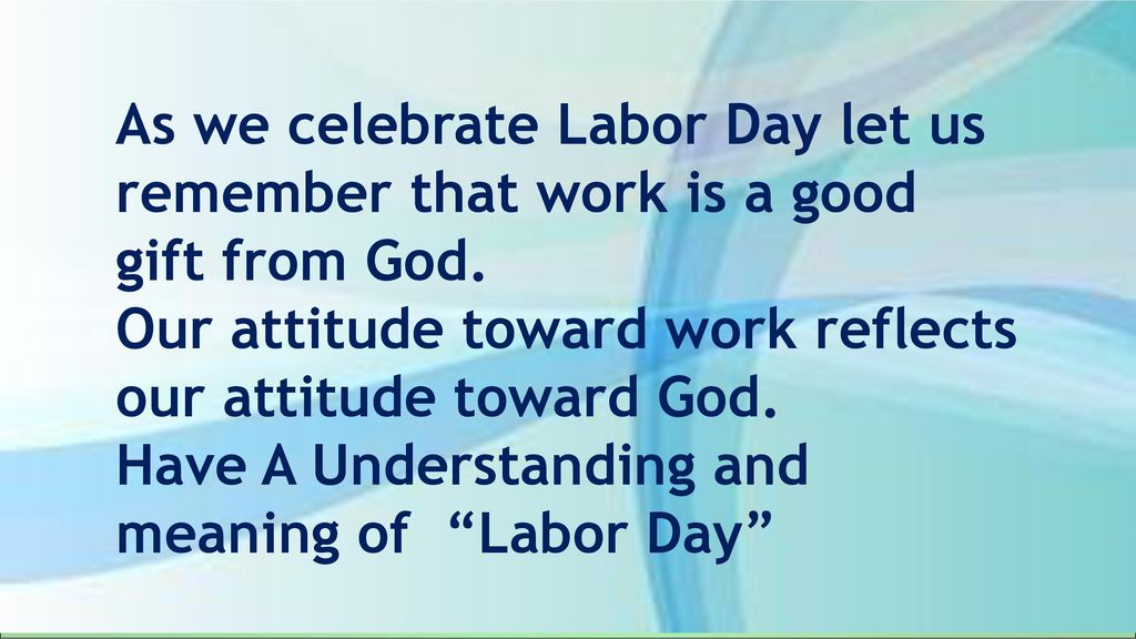 It S Labor Day Ppt Download