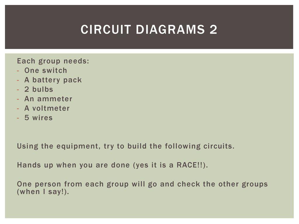 Electricity Unit 4 42 Current Voltage Resistance Circuit Diabrams Diagram Voltmeter 11 Diagrams