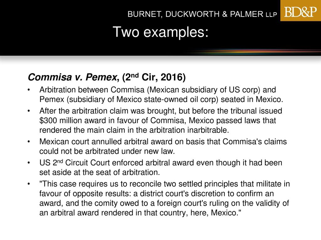 Courts And Arbitrations Ppt Download 2nd Circuit Pemex Cir 2016