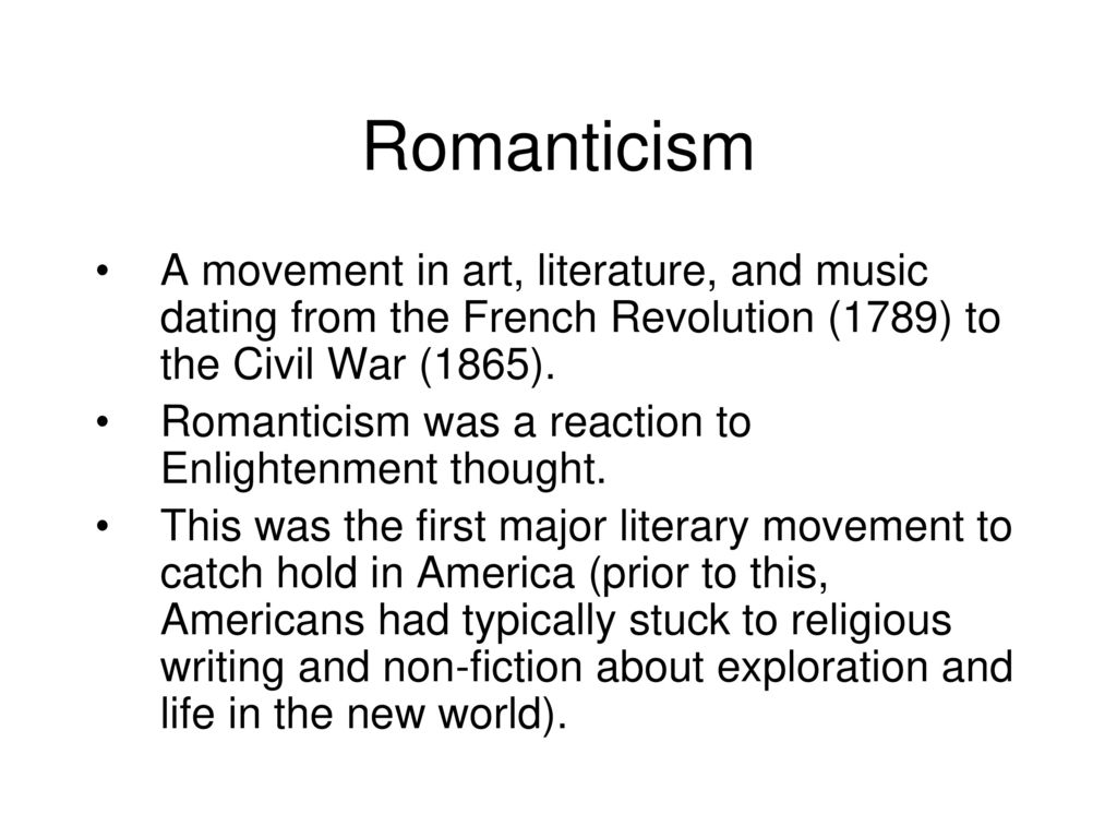 puritanism romanticism and transcendentalism english literature essay Gothic literature, romanticism, and transcendentalism gothic literature: is a genre of literature that combines elements of both horror and romance as a genre, it is generally believed to have been invented by the english author horace walpole , with his 1764 novel the castle of otranto.