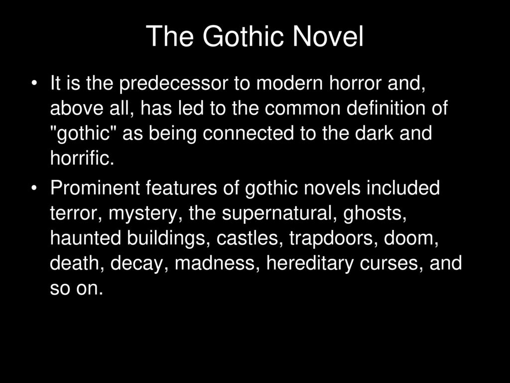 the gothic novel frankenstein ppt download