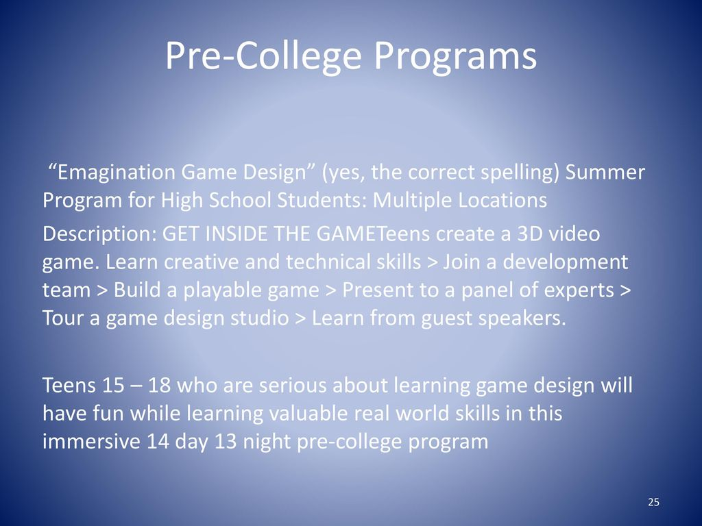 Video Game Design Summer Programs High School Students: 2017 Summer Enrichment Programs - ppt downloadrh:slideplayer.com,Design