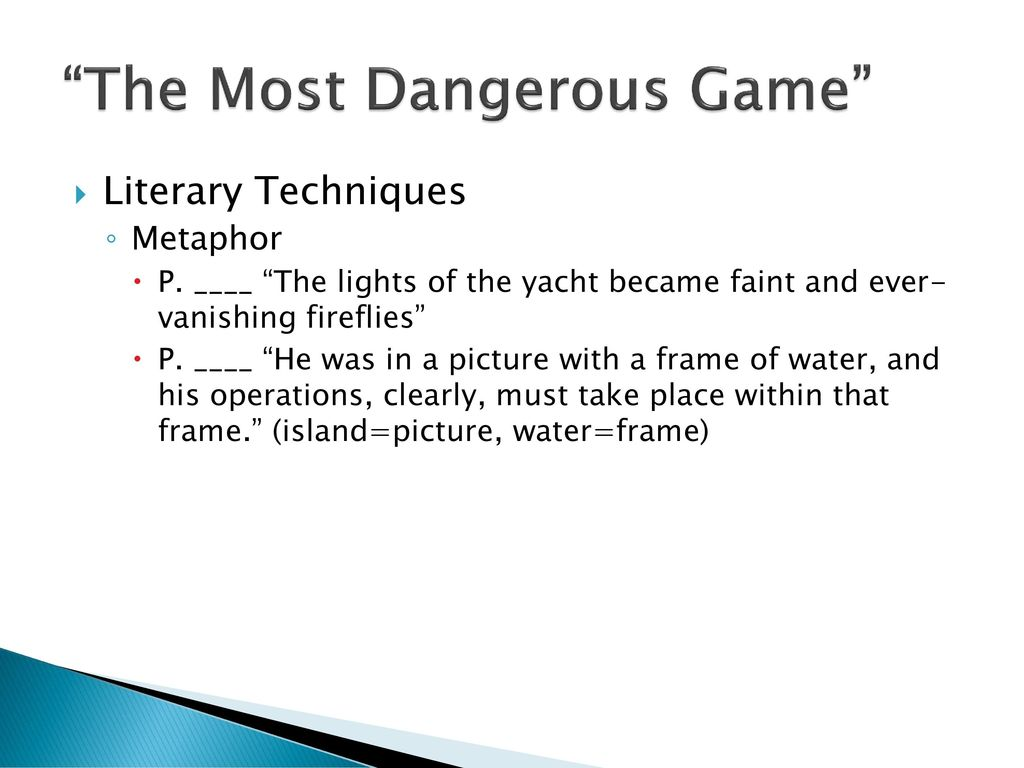 metaphor from the most dangerous game
