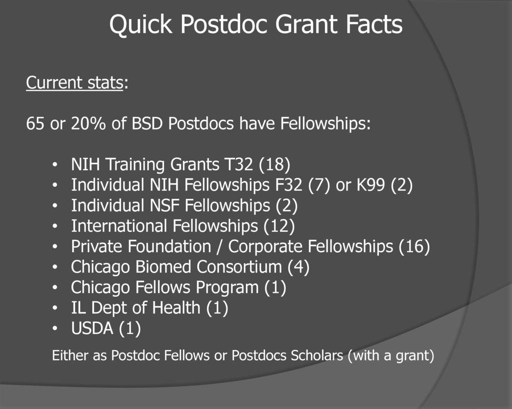 Grants Basics for Postdocs - ppt download