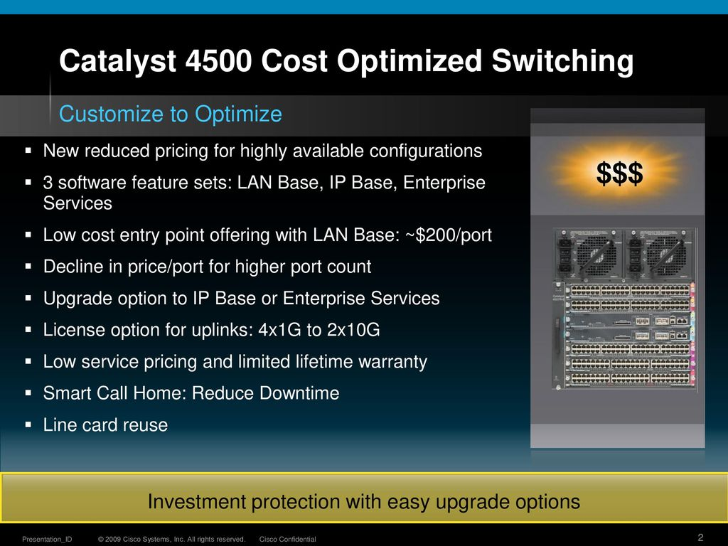 New Catalyst 4500 Bundles Offering Ppt Download Cisco 2960 S Switch With Lan Base Vs Ip Cost Optimized Switching