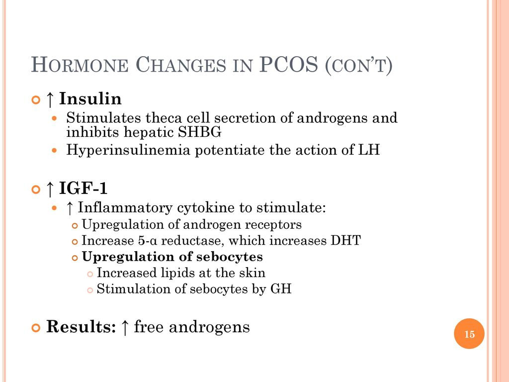Hormone Changes In Pcos Cont