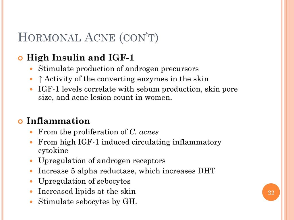 Hormonal Acne Cont High Insulin And Igf 1 Inflammation